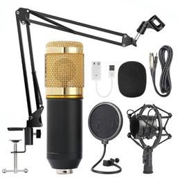 Wholesale Full set Karaok Player Studio Condenser Microphone KTV Broadcasting Recording Kits free shipping