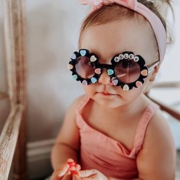 kids fashion sunglasses wholesale Australia - Fashion Girls stereo love heart letter sunglasses boutique children flower shape glasses kids princess accessoires sunblock A4927