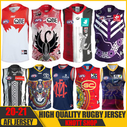 тигры кошки оптовых-2020 Freemantle Dockers Dockers Richmond Tigers Giants Cats Essendon Tasmania Coast Lions Rugby Jerseys Afl Jersey League Рубашка Жилет
