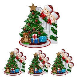 Wholesale names people for sale – custom Christmas Quarantine Tree Decoration Ornament Survived Family Pendant Home Holiday Hanging Decor Santa Claus DIY Name People