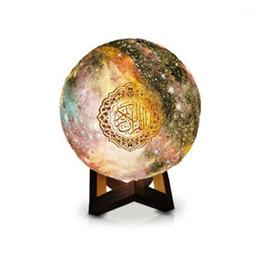 Großhandel Bluetooth Quran Lautsprecherlampe mit 7 Farben Licht Fernbedienung Presse Moonlight Lampenstütze MP3 FM TF-Karte Radio11