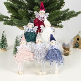 cute christmas tree NZ - New Year 2020 Cute Wool Angel Doll Pendant Christmas Tree Ornaments Navidad Decoration for Home Natal Noel Decor Craft Kids Gift1