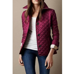 Wholesale england uk for sale - Group buy UK Women Quilted Diamond Jackets Suit England Brit Jacket Blazers Single Breasted London Slim Coat Long Sleeve Ladies Plaid Outwear Purple