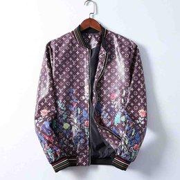 Wholesale bomb jacket for sale – winter FF Men s Printed Long Sleeve Leather Jacket Men s and Women s Clothing Designer New Aviator Bombing Jacket Men s Leather Jacket