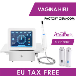 Discount auto probe Professional Auto Rotation Vaginal Tightening Machine Hifu Beauty Equipment with 2 Probes Skin Rejuvenation for Women Pr