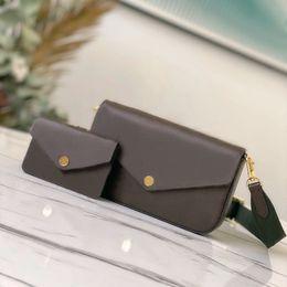 Wholesale Twin set shoulder bag women Handbag Evening Bags lady fashion chain purse lady shoulder bag handbag messenger bag card holder chain purse