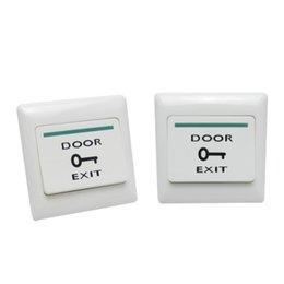 2pcs Puerta de salida de lanzamiento del empuje del botón del interruptor de control de acceso magnética bloqueo de la puerta en venta