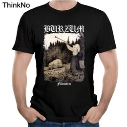 Discount nice t shirt men Burzum Filosofem Cover T Shirt Summer Top Design Popular Tees Nice Short-sleeved Casual Fashion Cool Y200930