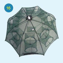 cage traps Canada - 4-20 Holes Matic Folding Fishing Net Shrimp Cage Nylon Foldable Crab Fish Trap Cast Net Cast Folding Fishing Network jllchS nana_home