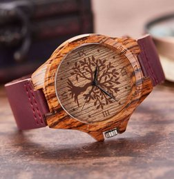 Wood pattern watch women leisure soft belt women watch creative wood quartz watch on Sale