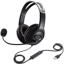 Wholesale games center for sale - Group buy USB PC Headphone with Mic Wired Gaming Headsets Call Center Traffic Earphone for Kids Study High Quality Microphone Headband Computer Games