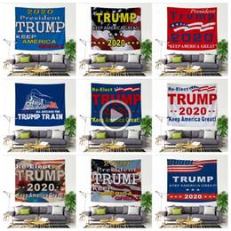 GLLP Trump Tapestry Keep Amrican great Wall Hanging 150*200cm trump train Bedspread Beach yoga mat Shl towel Wall Decoration LJJA3423-41