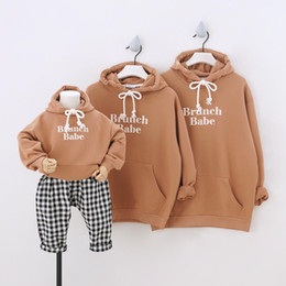 family matching hoodies NZ - Dojhonkids Hoodies Family Matching Outfits Sport Sweatshirts for a Family of Three Hooded Parent-Child Clothing 2020 Couple Wear F1218