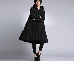 Wholesale army navy coat resale online - womens winter thick down coats black navy blue army green red plus size clothes female long jackets for women winter