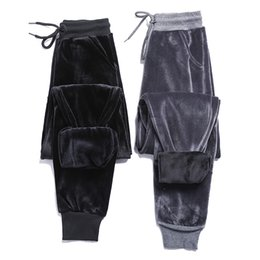 Wholesale wind pants women resale online - 2020 new plus velvet thick velvet sweatpants women winter warm BF wind harem pants casual pants Wei pants trousers