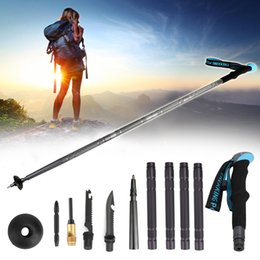 Areyourshop Fitness Walking Trekking Stick Pole Screwdriver Multi Function Defense Survival tools Sporting goods Accessories Parts