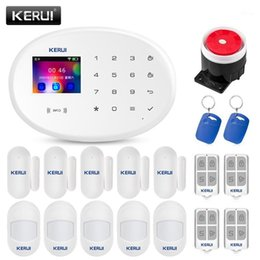 security system panels Australia - KERUI W20 WIFI GSM Alarm System Full Color Touch Panel Support 8 Language Switchable Protect Home Security Buglar Alarm System1
