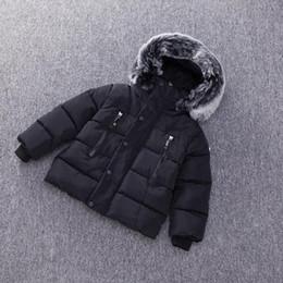Dulce Amor Kids Down Piumino 2018 inverno caldo Parkas Cappotti Addensare Collo di pelliccia naturale Capispalla Capispalla Capispalla Baby Boys Girls Vestiti in Offerta