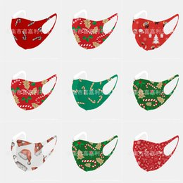 nose breathing NZ - Melt Spraying Cloth In The Middle Of 3 Layers. Design Christmas Mask For Effective Mouth And Nose Breathing Protectionkn 95#320123143666