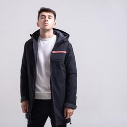 Wholesale warm waterproof hoodies resale online – 2020 mens winter jacket classic street casual down jacket Windproof waterproof white duck down warm long section down hoodies