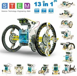 STEM 13 in 1 Solar Robot Kit DIY Learning Science Educational Experiment ToySet on Sale