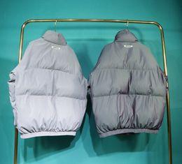 Wholesale colorful zipper jacket for sale – winter 2020 Europe America Oversize Fear Of God Essentials Cool Laser Colorful Reflective Men FOG Cotton Jacket Women Coat Windproof Warm Coat