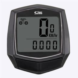 Pantalla resistente al agua bici de la computadora digital con LCD odómetro de la bicicleta Velocímetro de ciclo atado con alambre Cronómetro complementos de equitación en venta