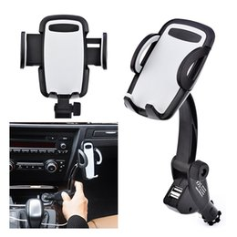 cigarette lighter phone holder NZ - USB Cigarette Lighter Mobile Phone Stand Mount Charger Accessories Holder for smartphone in the Car