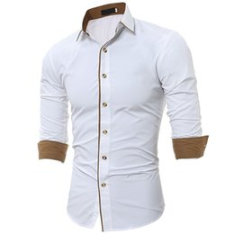 Men's Autumn Summer Casual Solid Blouses Button Down Tops Comfort 1 2 Sleeve Tunics Plus Size Shirts Casual Slim Long Sleeves Shirt on Sale