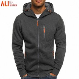 hoodie do alisister venda por atacado-Alisister Mens Fashion Hoodies Marca Men Personalidade Zipper camisola com capuz masculino Treino Hip Hop Outono Inverno Hoodie Mens H6qE