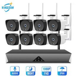 Wheezan Wireless Security Camera System 8CH IP Camera Kit Home Surveillance 1080P NVR Wifi CCTV Outdoor P2P Audio 2MP Cam Set1 on Sale