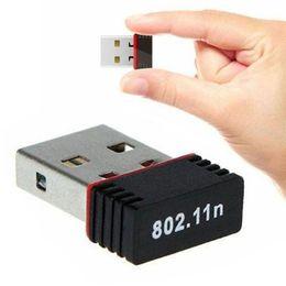 150Mbps USB WiFi Adapter MT7601 Trådlöst nätverkskort 150m USB Wi-Fi dongle för PC-dator Ethernet-mottagare