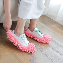 Wholesale cleaning housing for sale - Group buy Dust Mops Slipper House Bathroom Floor Cleaning Mop Cleaner Slipper Lazy Shoes Cover Microfiber Colors EEF4288