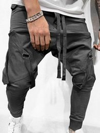Wholesale men funny joggers resale online - Pants Men Jogger Pantalones Streetwear Style Fitness Funny Pants Jogger with Colors Fashion Casual Style