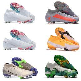 Wholesale CR7 Mercurial Superfly Safari Korea Elite Neymar Future Lab VII 7 Crimson FG Soccer Shoes Youth Kids Football Boots