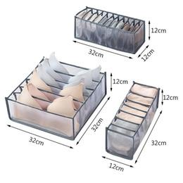Bra Storage Boxes Underwear Clothes Organizer Drawer Nylon Divider Closet Organizer Foldable 6 7 11 Grids Separated Drawer Organizer HHA2173 on Sale