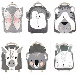bags monkey 2021 - Baby Animals Pack Kids Backpack Butterfly Monkey Rabbit Toy Children Kindergarten School Bag Gift Kids Toy For Girls Boy