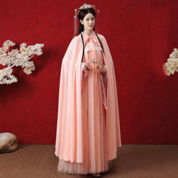 Wholesale han dynasty for sale - Group buy Hanfu Women Ancient Han Dynasty Princess Clothing Female Chinese Style Fairy Dress Cloak Elegant Sunscreen Hanfu Cloak SL4160