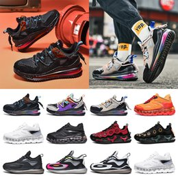 Discount cushioned basketball shoes Hotsale fashion mens sneakers running shoes Full palm cushion shock absorption purple black blue red grey split trainers size 40-45