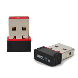 Wholesale 150M USB Wifi Wireless Adapter 150Mbps IEEE 802.11n g b Mini Antena Adaptors Chipset MT7601 Network Card