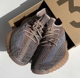 Wholesale pearl cotton sizes online – design Kanye Ash Stone Designer Ash Blue Pearl Sesame Kanye West Black Grey Shoes Athletic Sneaker Outdoor Boot Size With Box