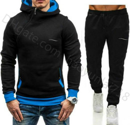 Wholesale men hottest sweat suits resale online - Hot Sale sweatsuit Designer Tracksuit Mens hoodie sweatpants Mens Clothing Sweatshirt MEN Pullover Casual Tennis Sport Hip Hop Sweat Suit