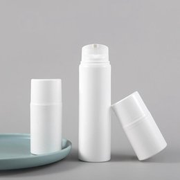 white airless bottles NZ - New 30ml 50ml 80ml 100ml 120ml 150ml White Empty Cosmetic Vacuum Bottle Airless Pump Lotion Bottles Container Wholesale