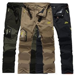 Wholesale cargo shorts men for sale - Group buy 6XL Casual Stretch Pants Men Removable Quick Dry Tactical Short Elastic Breathable Waterproof Tourism Trousers Cargo Thin Pants