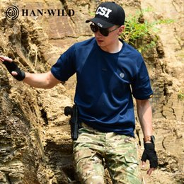 Wholesale tactical shirts for sale – dress Men Outdoo Rhiking Airsoft Clothing Shirts Men Camping Casual Solid Tactical Army Shirt Short Sleeve High Quality Pure Cotton bbythf