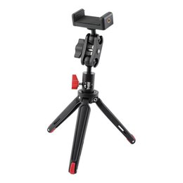tripod for macro Australia - Foldable Mini Tabletop Tripod with Phone Stand Double Ball Head Adjustment for Camera Phone Travel and Macro Photography