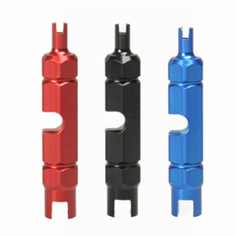 Wholesale Bicycle Valve Core Wrench Inner Tube Removal Tool Alloy Double Headed Multi Function Valves Cores Spanner Home Accessories 4qb N2