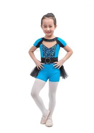 Wholesale tap dancing for sale - Group buy Child Blue Boy Short Unitard Short Sleeve Spandex Jazz and Tap Dance Costume C1