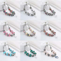 Discount fashion dog glasses Cxwind Fashion Dog Footprint Flower Murano Glass&Crystal European Charm Beads Fits diy Style Heart Charms Bracelets for