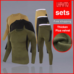 compression clothing sale NZ - Hot Sale Men Warm winter Thermal Underwear compression fitness suit MMA fitness Quick-drying suit T-Shirts Tights Brand clothes LJ201008